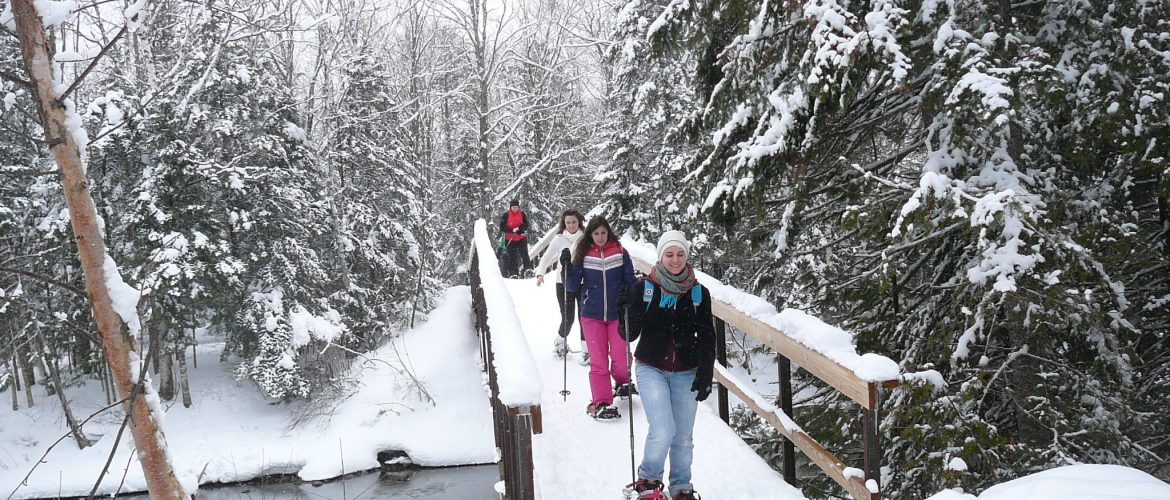 Students snowshoeing