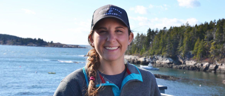 Student at internship on the coast