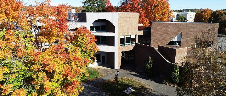 Drone image of Olsen Student Center