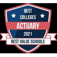 Best Actuary Degree Programs 2021 badge