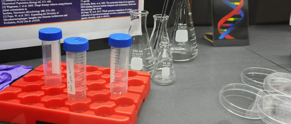 Tools and instruments in science lab