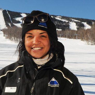 Student intern working at Sugarloaf ski resort