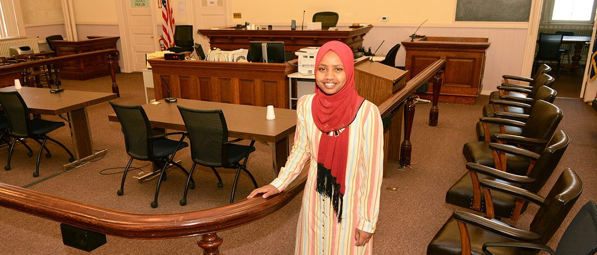 Student intern working at Franklin Superior Courthouse