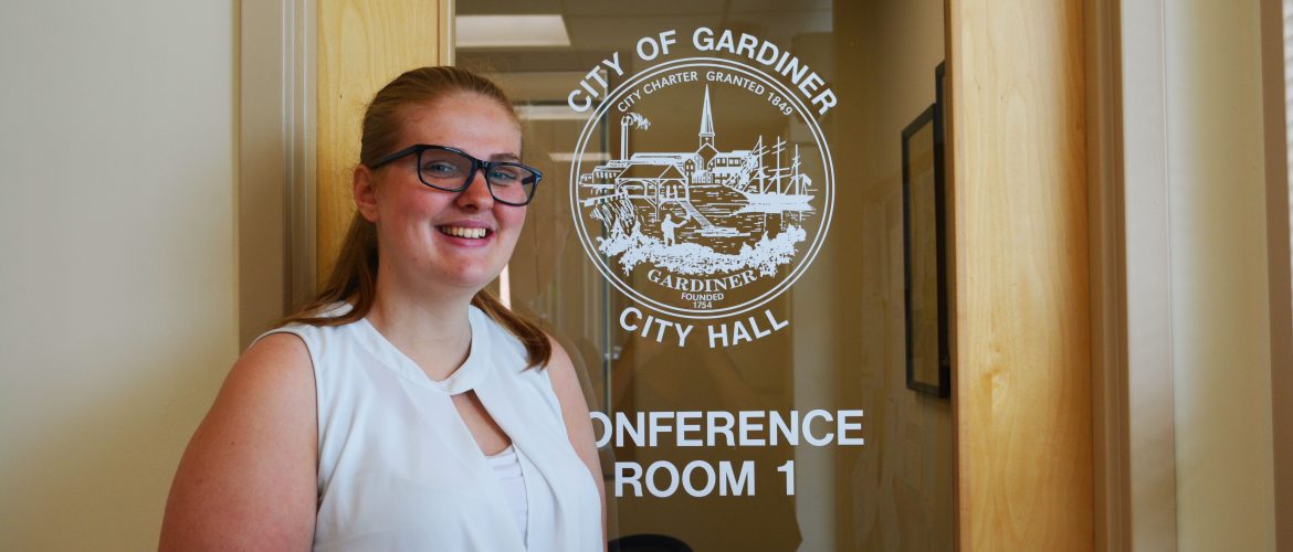 Student interning for the City of Gardiner, Maine