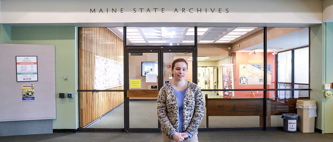 Student intern at the Maine State Archives
