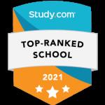 Study.com Top Ranked School badge