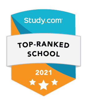 Study.com Top Ranked School badge