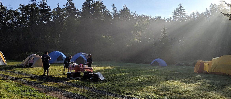 Outdoor camping scene