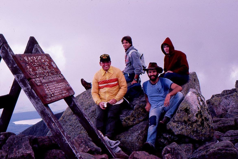 Tom Eastler and Michael Bell atop Katahdin