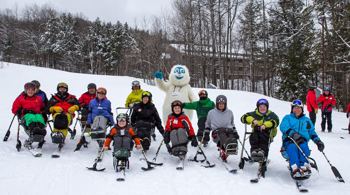 Sit Skiers at Maine Adaptive Sports and Recreation