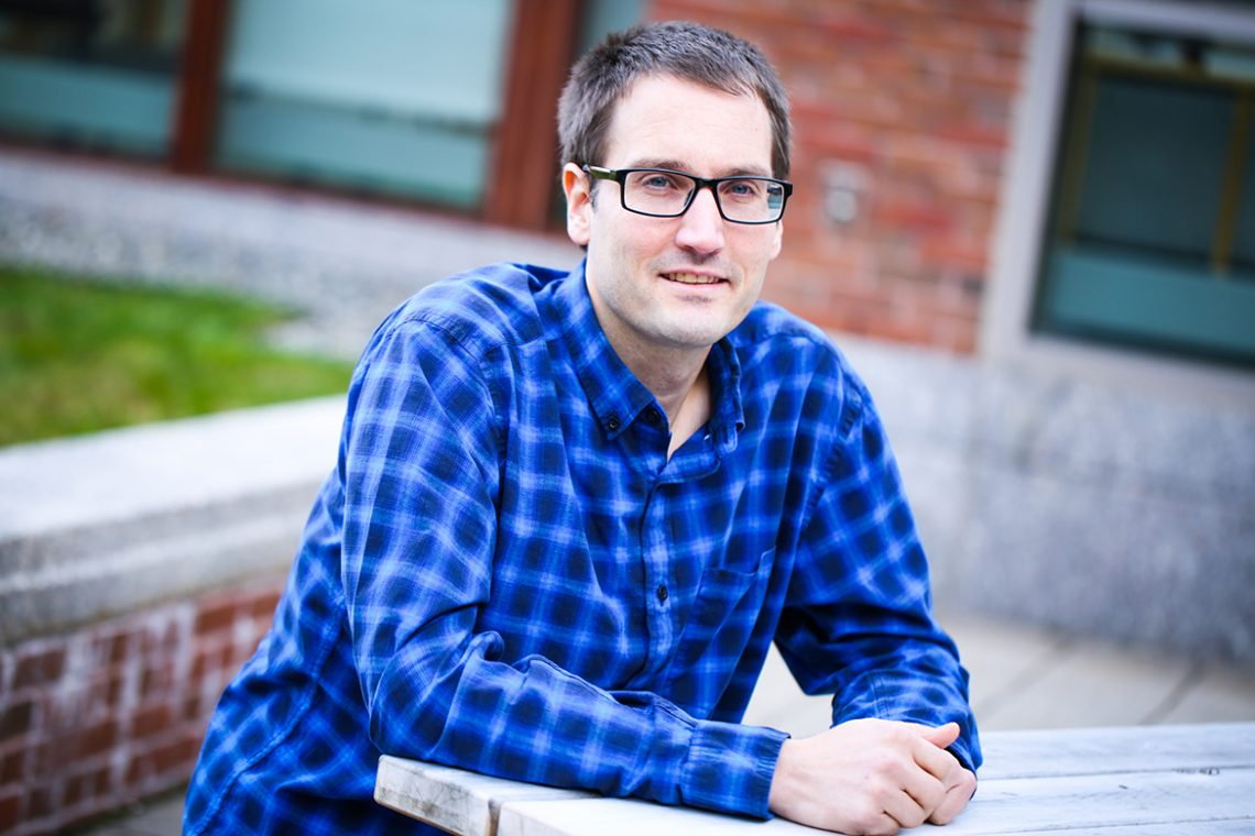Jason Bubier '97, research scientist at the Jackson Laboratory in Bar Harbor, Maine.
