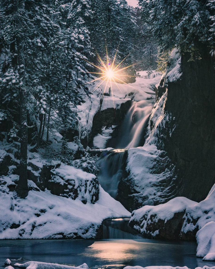 Smalls Falls in Winter