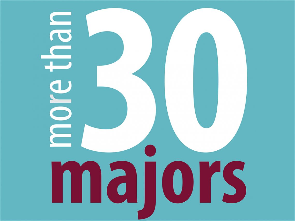 UMF offers more than 30 majors.