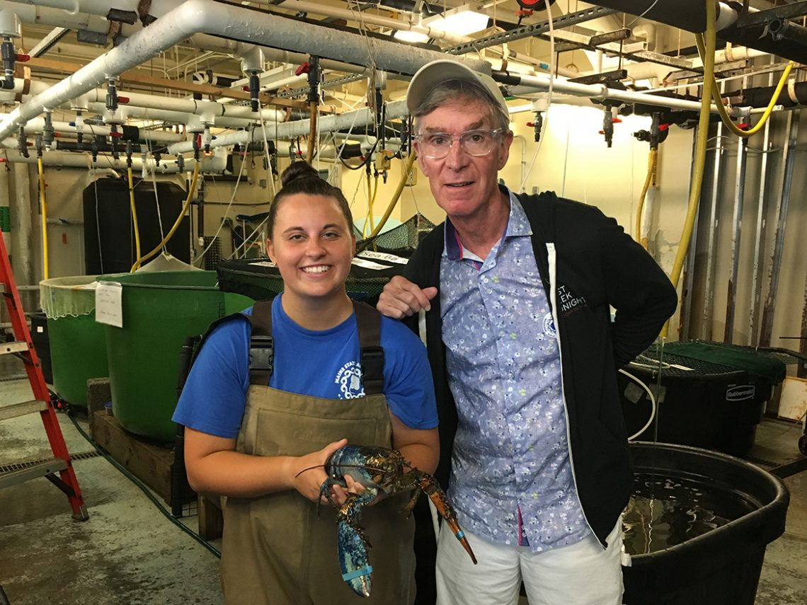 Sophia Manning '19 and Bill Nye the Science Guy