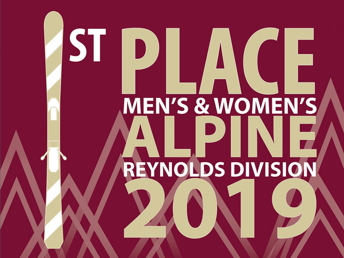 UMF's ski teams are the 2019 Reynolds Division Champions