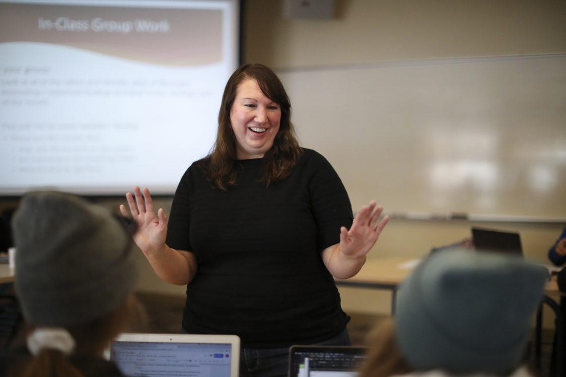 Katie Callahan, assistant professor of community health education at UMF.