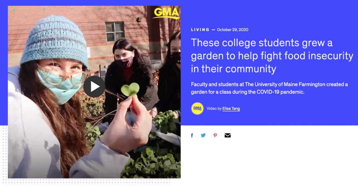 UMF Garden inspires community and beyond: These college students grew a garden to help fight food insecurity in their community.