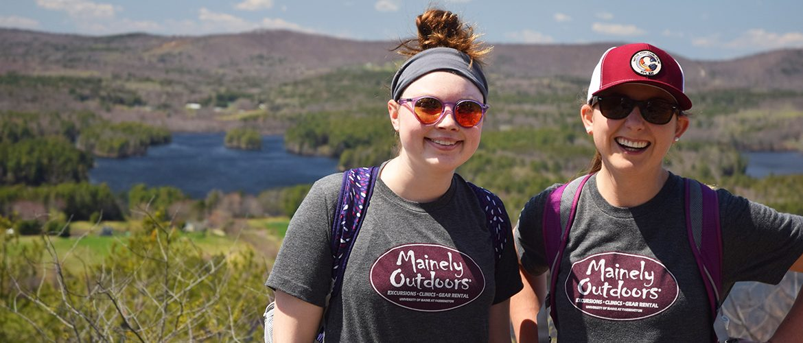 Two UMF students on a Mainely Outdoors hike