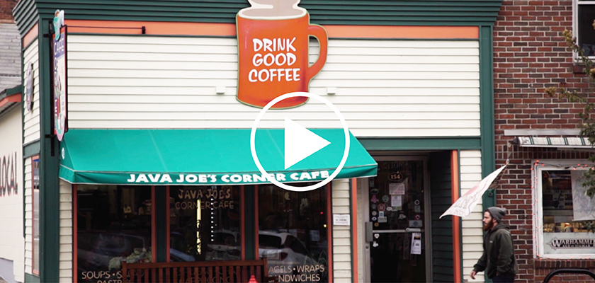 Java Joes, a popular downtown Farmington coffee shop