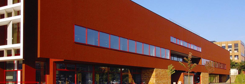 Le Mans university library building.