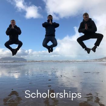 Three guys jumping over water Ireland