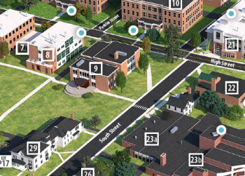 Mantor Library on Campus Map