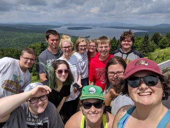 Umf Upward Bound Students on a camping trip.