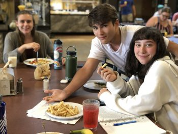 Students at the UMF Dining Hall.