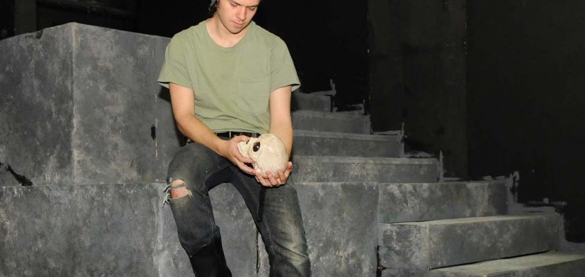 UMF student Jonas Maines as Hamlet in Theatre UMF fall production, Nov. 16-19, in UMF Alumni Theater.