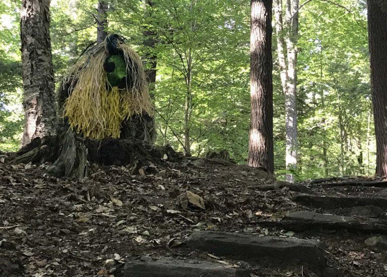 Water Bear art installation in Flint Woods