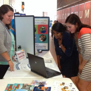 UMF students learn about local employment opportunities at past UMF Career Fair.