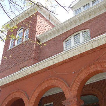 Closeup of UMF Merrill Hall architecture
