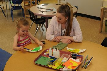UMF Education majors gain real world classroom experience at on-campus Sweatt-Winter Childcare Center.