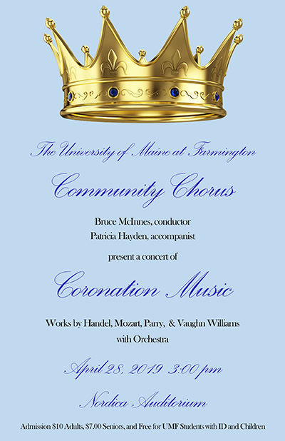 UMF Community Chorus presents spring concert of Coronation