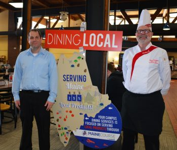 UMF dining services serves 25 percent local foods.