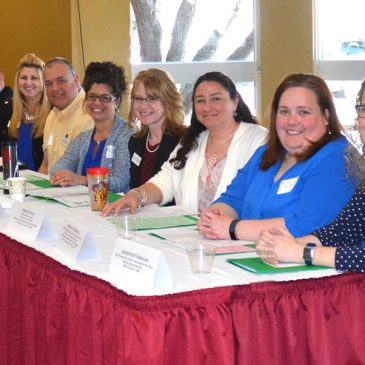 A group of Maine County and State Teachers of the Year at a recent UMF event