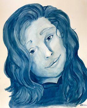 """""""Self Portrait in Blue"""" by Lauryn Jaimie Walston"""