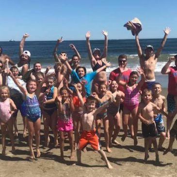 UMF Summer Daze campers at Popham Beach