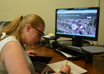 Thomsen is using GIS mapping to create digital tools for the City of Gardiner Department of Public Works.