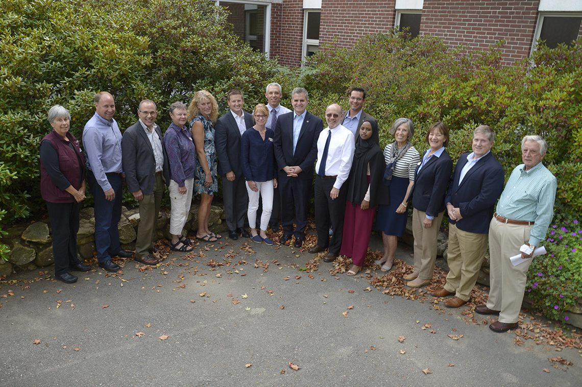 UMF Board of Visitors for 2019-20 with President Edward Serna (ninth from left)