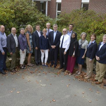 UMF Board of Visitors for 2019-20 and President Edward Serna (ninth from left)