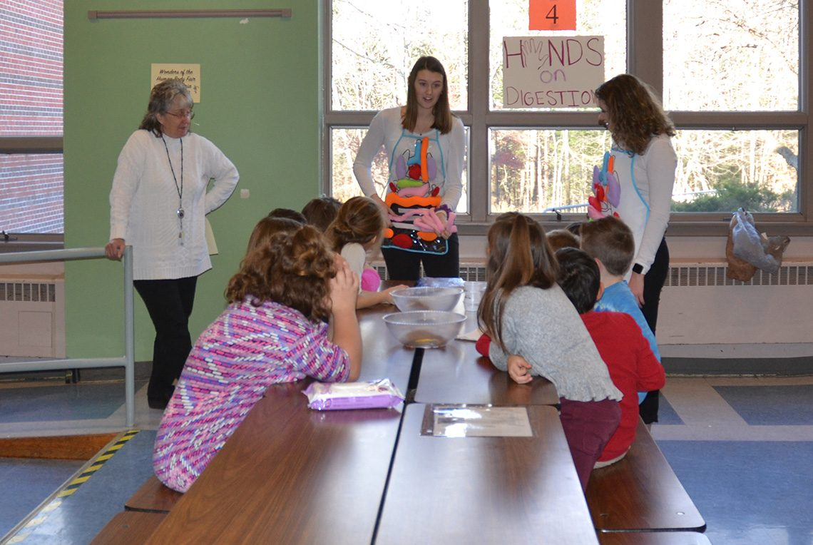 Third-graders from five classes learned about how the heart pumps blood, how optical illusions can trick your eyes and how food moves through the digestive system along with many other lessons.