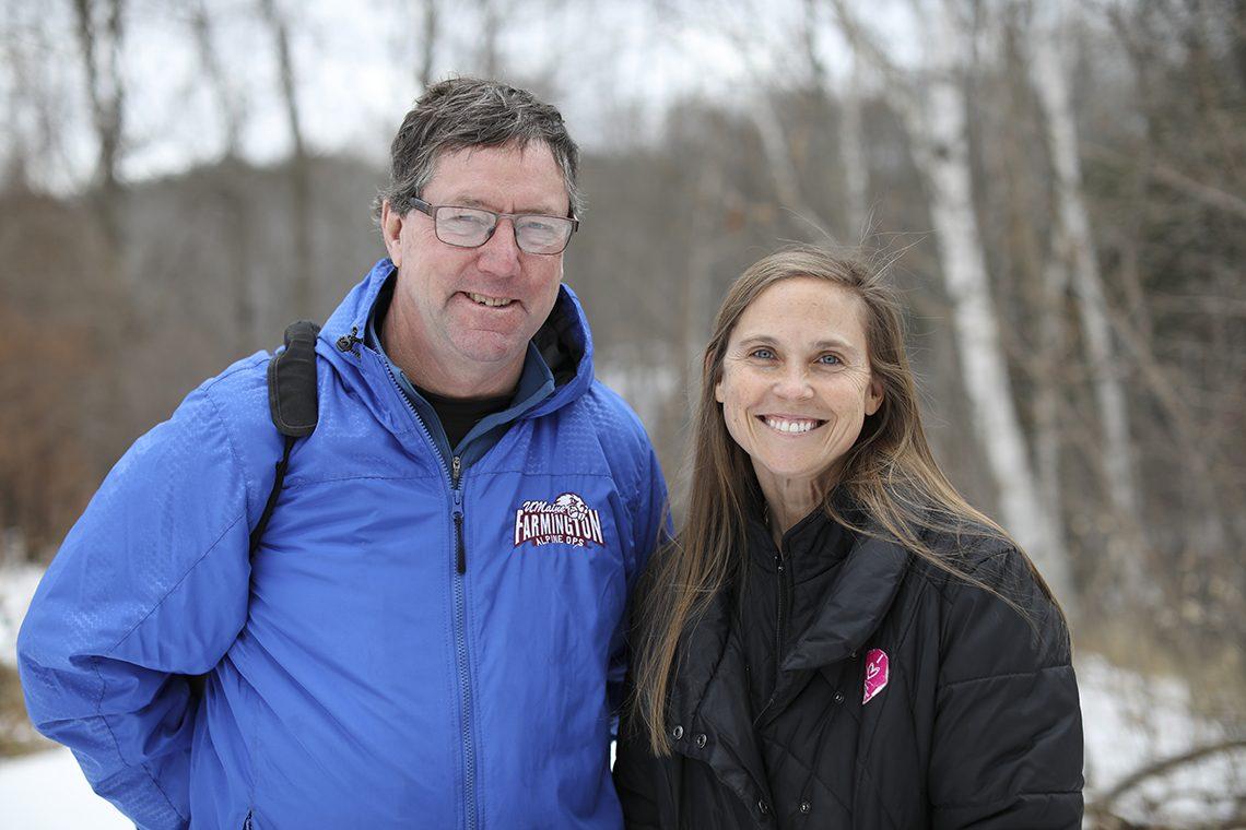 James Hoisington, coordinator of UMF Alpine Operations, and Gina Oswald, UMF assistant professor of rehabilitation services