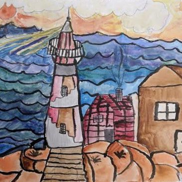 Lighthouse by Wyatt Jessen, 4th grade, Cascade Brook School