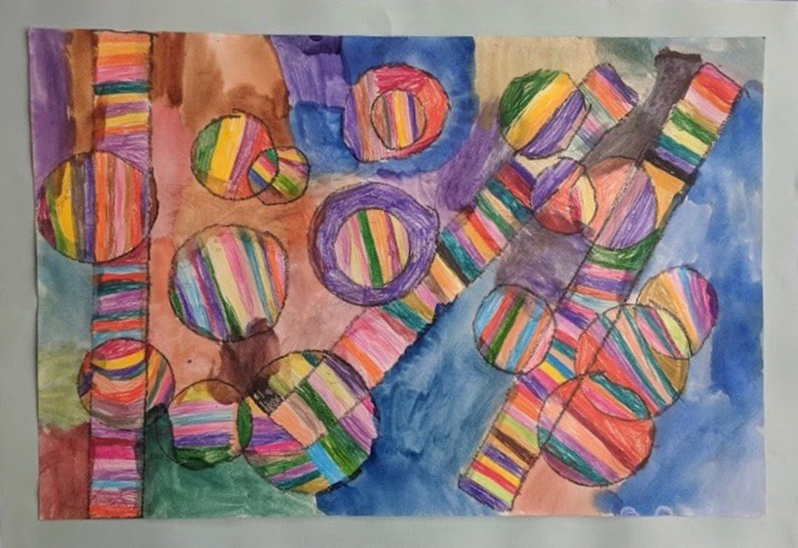 Abstract by Ariel Roy, 2nd grade, Academy Hill School