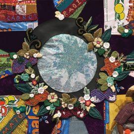 Detail from El Trabajador de la Verdura-The Veggie Picker by Leila Hernandez