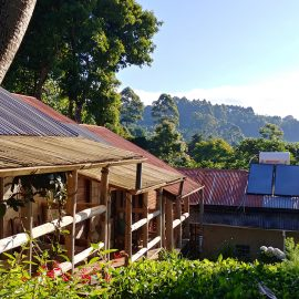 Sustainable lodging in Mbahe, Tanzania, where UMF travel course participants stayed.