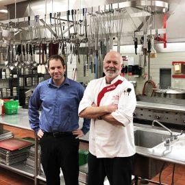 UMF food service leaders Adam Vigue and Doug Winslow