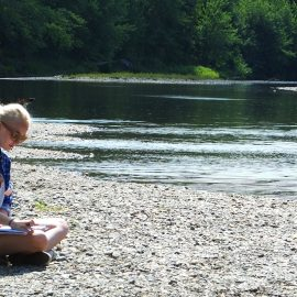 Young writer inspired by nature during previous UMF Longfellow Writers Workshop
