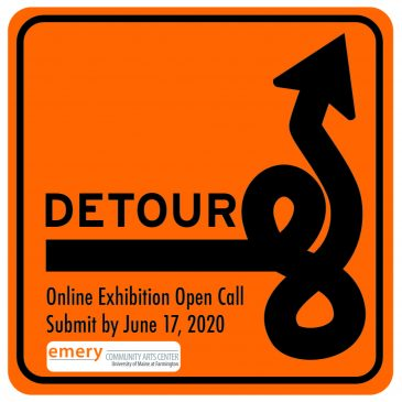 "Logo for Emery Community Arts Center online exhibit ""Detour"""